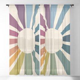 Retro Blossom Sheer Curtain