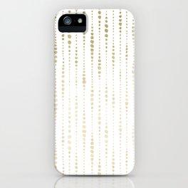 NYC Nights Gold Polka Dot Stripes iPhone Case