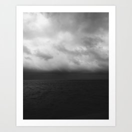 where the sky meets the sea Art Print