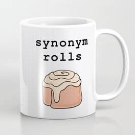 Synonym Rolls pun literary grammar Coffee Mug