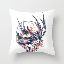 broken skull Throw Pillow
