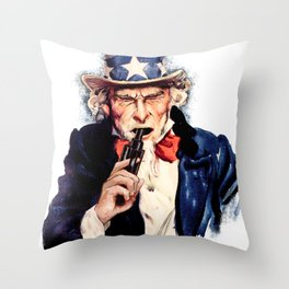 Uncle Sham Throw Pillow