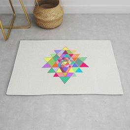 Sri Yantra triangles Rug