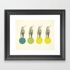 Unicorn Parade Framed Art Print