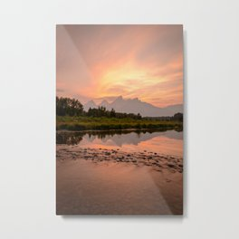 TETONS SUMMER SUNSET - GRAND TETON NATIONAL PARK WYOMING - LANDSCAPE PHOTOGRAPHY PRINT Metal Print