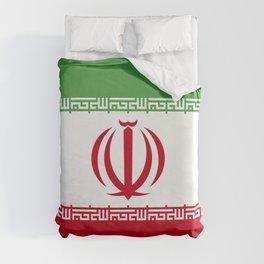 Iran flag emblem Duvet Cover