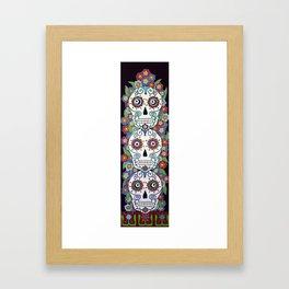 Sugar Skull Totem Framed Art Print