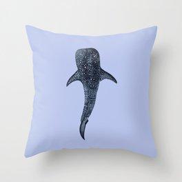WHALE SHARK (light blue II) Throw Pillow