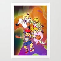 earthbound Art Prints featuring Earthbound by ROBIN / VOGELVRIND