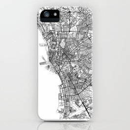 Manila Map White iPhone Case