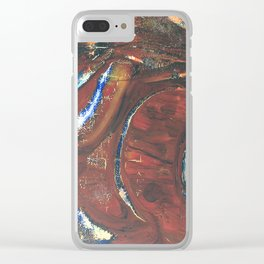 O.T. Abstrakt Clear iPhone Case