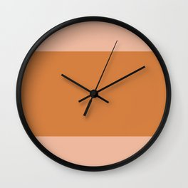 Burned orange - color story Wall Clock