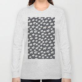 Stars on grey background Long Sleeve T-shirt