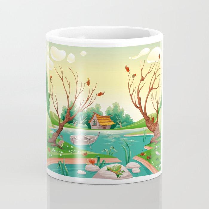 Pond and animals.  Coffee Mug