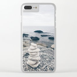 White stones Clear iPhone Case