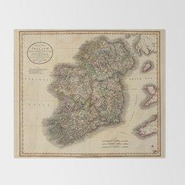 Map of Ireland 1799 Throw Blanket