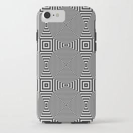 Flickering geometric optical illusion iPhone Case