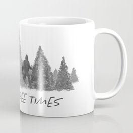 Gone Squatchin' Knock Three Times Black and White Coffee Mug