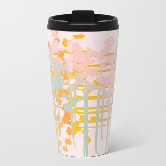 rainbow floral Metal Travel Mug