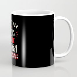 Whatever Sizzles Your Bacon Typography Coffee Mug