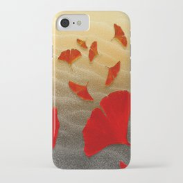 Red Ginko iPhone Case