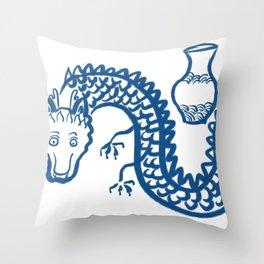 The Dragon Who Escaped Throw Pillow