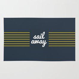 Sail Away Nautical Print Rug