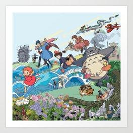 Ghibli Explosion Art Print