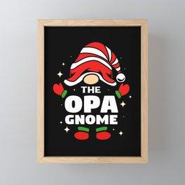 Gnome Opa Grandpa Matching Family Christmas Elf Framed Mini Art Print