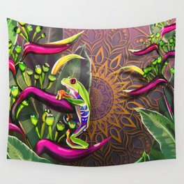 Red Eyed Tree Frog Wall Tapestry