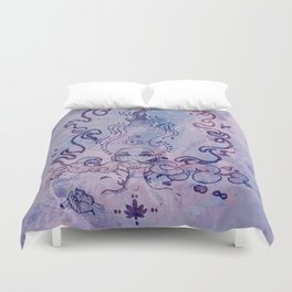 The Flame (Purple Texture) Duvet Cover
