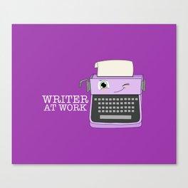 Writer At Work Canvas Print