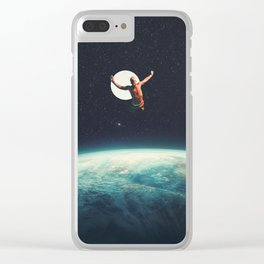 Returning to Earth with a will to Change Clear iPhone Case