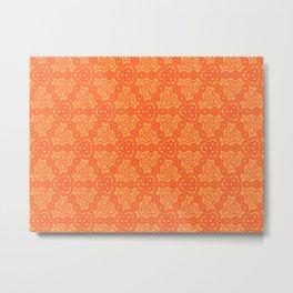 Patterns: Orange Daggers Metal Print