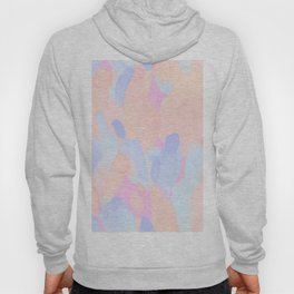 Pink & Blue Abstract Colors Collage Hoody