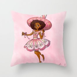 Carillon - The Music Box Witch Throw Pillow