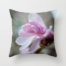 spring pink magnolia flower photography.   Throw Pillow