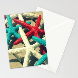 Patriotic Starfish Stationery Cards