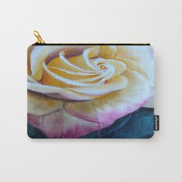 Pink and Yellow Rose painting Carry-All Pouch