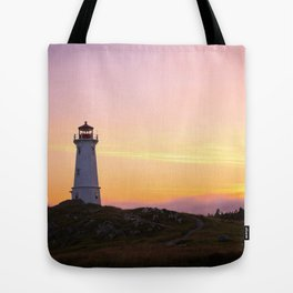 Louisbourg Lighthouse Tote Bag