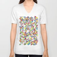 pills V-neck T-shirts featuring Pills by Eleacuareling