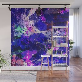 Freedom - Abstract In Blue And Purple Wall Mural