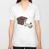 reading V-neck T-shirts featuring Reading by Ciccimon