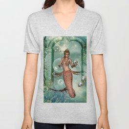 Wonderful mermaid Unisex V-Neck