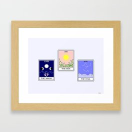 Trio of Tarot Framed Art Print
