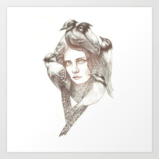 Birds of sorrow Art Print