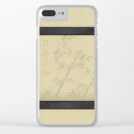 Tatami - Bamboo Clear iPhone Case