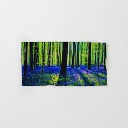 'Bluebells of the Rhode Island Spring' Landscape by Jeanpaul Ferro Hand & Bath Towel