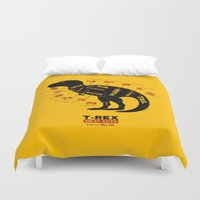 dino Duvet Covers featuring Dino Deli by victor calahan