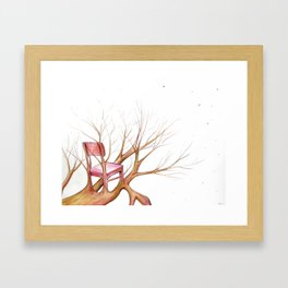natural seating Framed Art Print